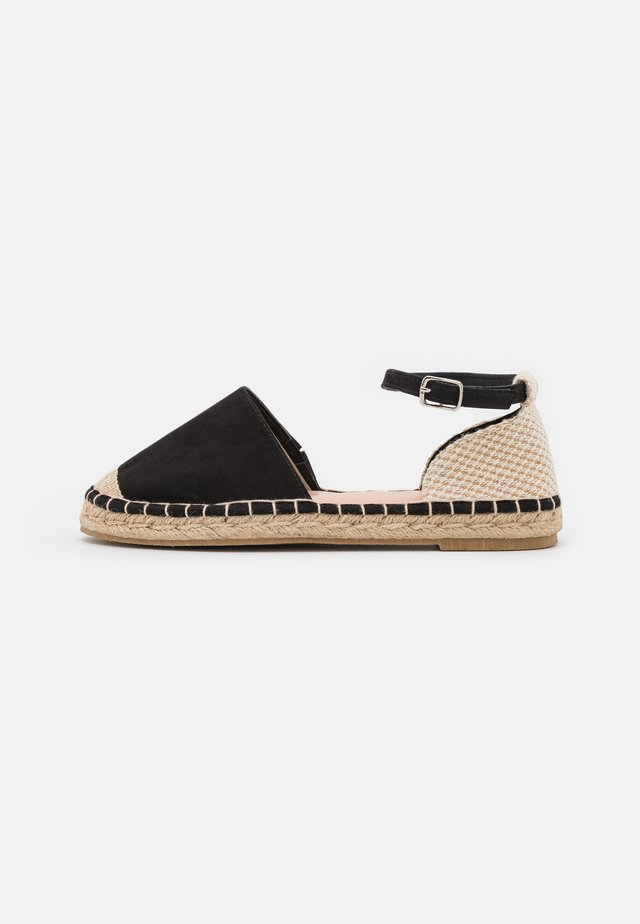 Loafers - black/beige