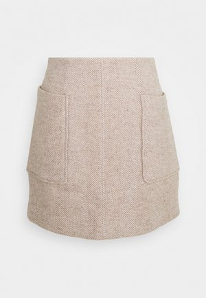 HELGA SKIRT - Mini skirt - beige