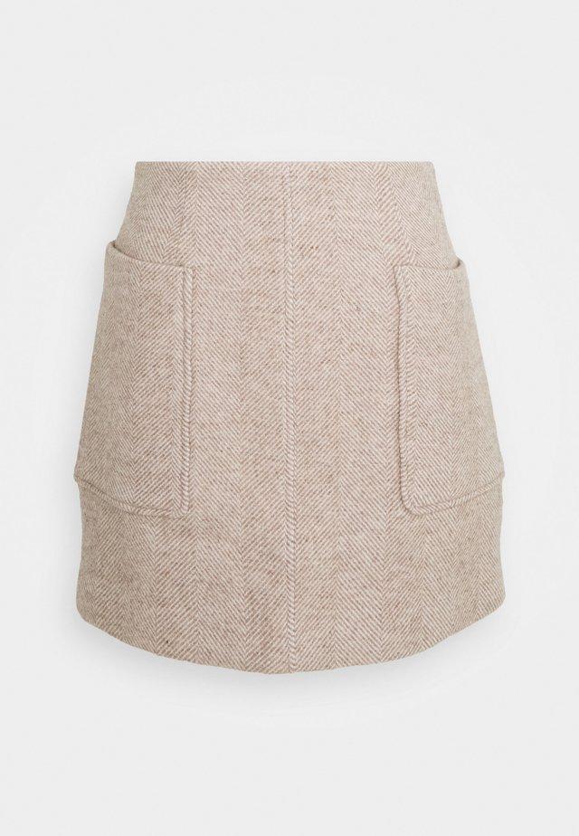 HELGA SKIRT - Mini skirt - beige