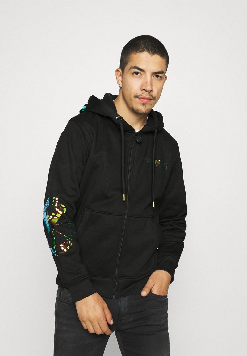 Carlo Colucci - UNISEX - Zip-up sweatshirt - black