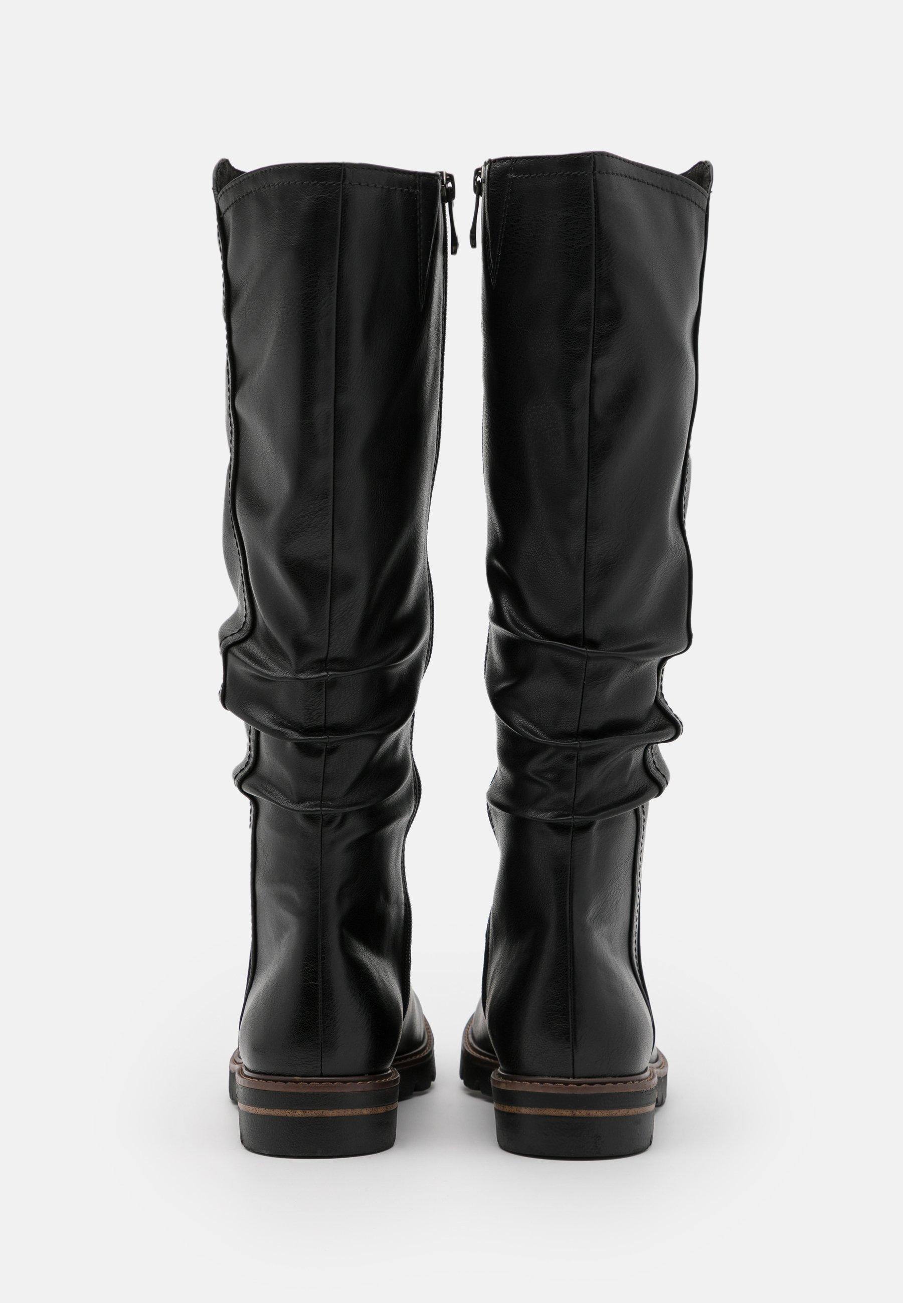 Marco Tozzi Boots - Støvler Black Antic/svart