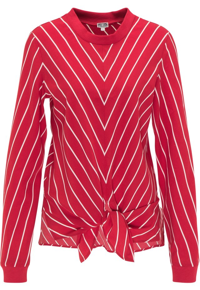 Blouse - rot weiss