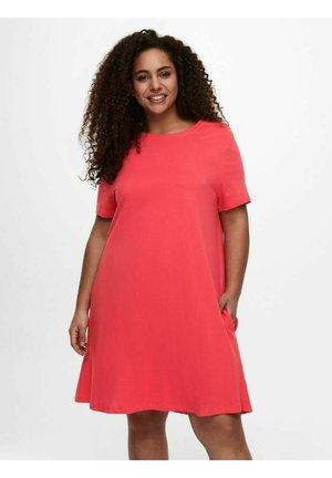 Jersey dress - cayenne