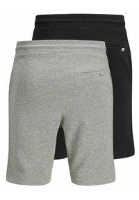 Jack & Jones - 2 PACK - Shorts - black, mottled black, grey - 7