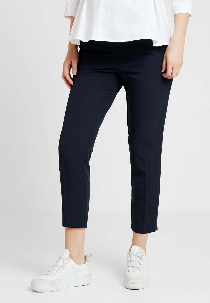 Dorothy Perkins Maternity - OVERBUMP ANKLE GRAZER - Trousers - navy