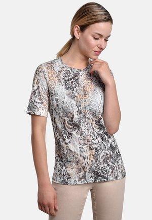 T-shirt print - silver beige