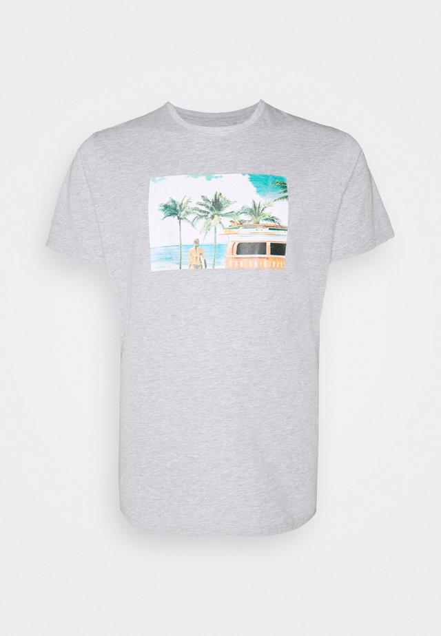 PHOTO TEE - T-shirts med print - grey mel