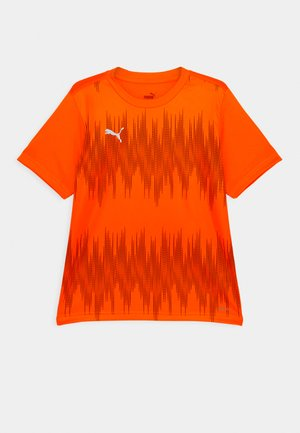 FTBLNXT GRAPHIC CORE UNISEX - Camiseta estampada - shocking orange/asphalt