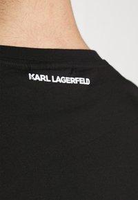 KARL LAGERFELD - CREWNECK - Print T-shirt - black - 6