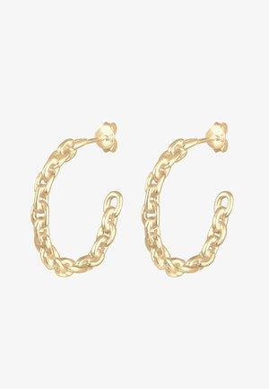 CREOLEN HÄNGER CHAIN BLOGGER TREND  - Earrings - gold-coloured