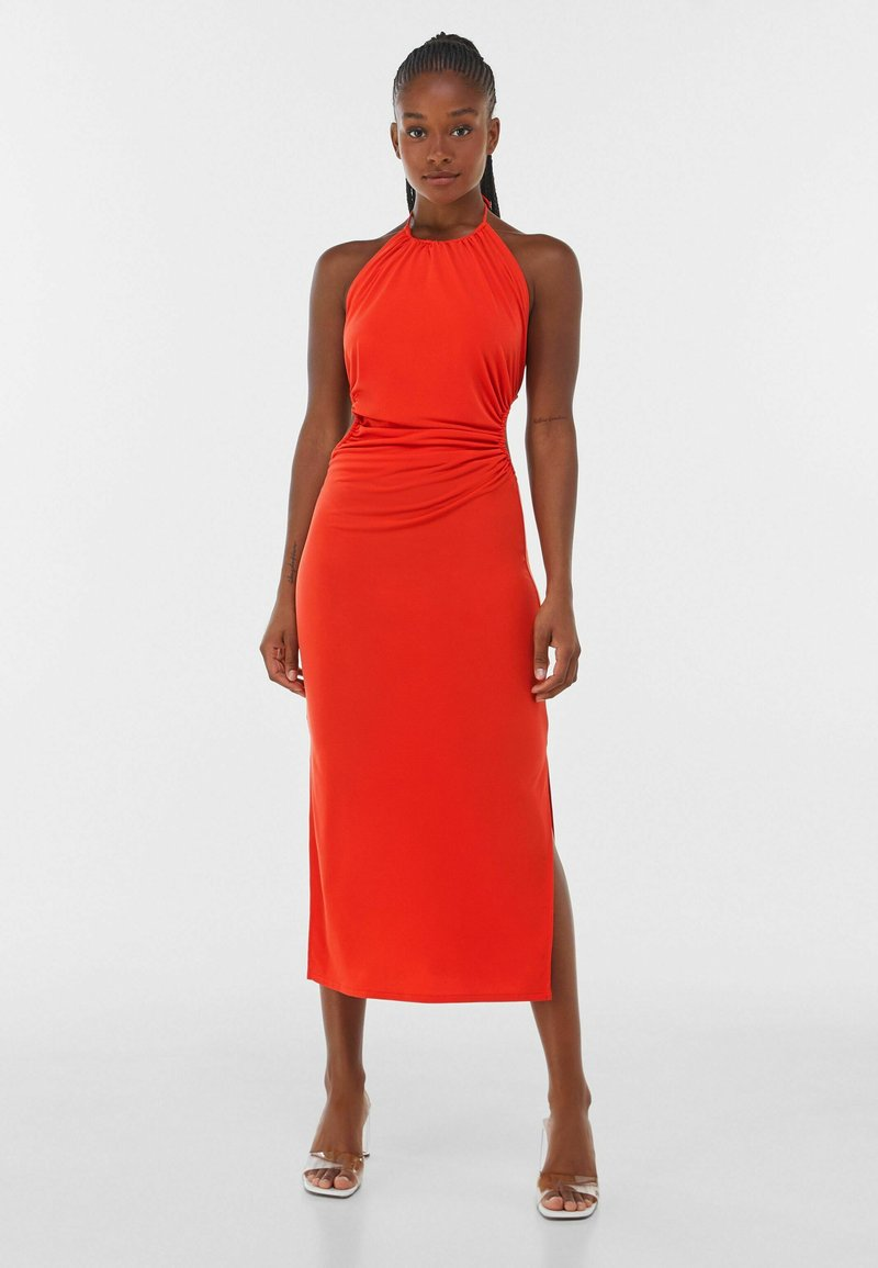 Bershka - WITH CUT-OUT AND OPEN BACK  - Cocktail dress / Party dress - red