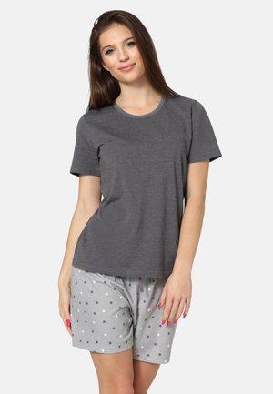SET - Pyjama set - dark melange/grey
