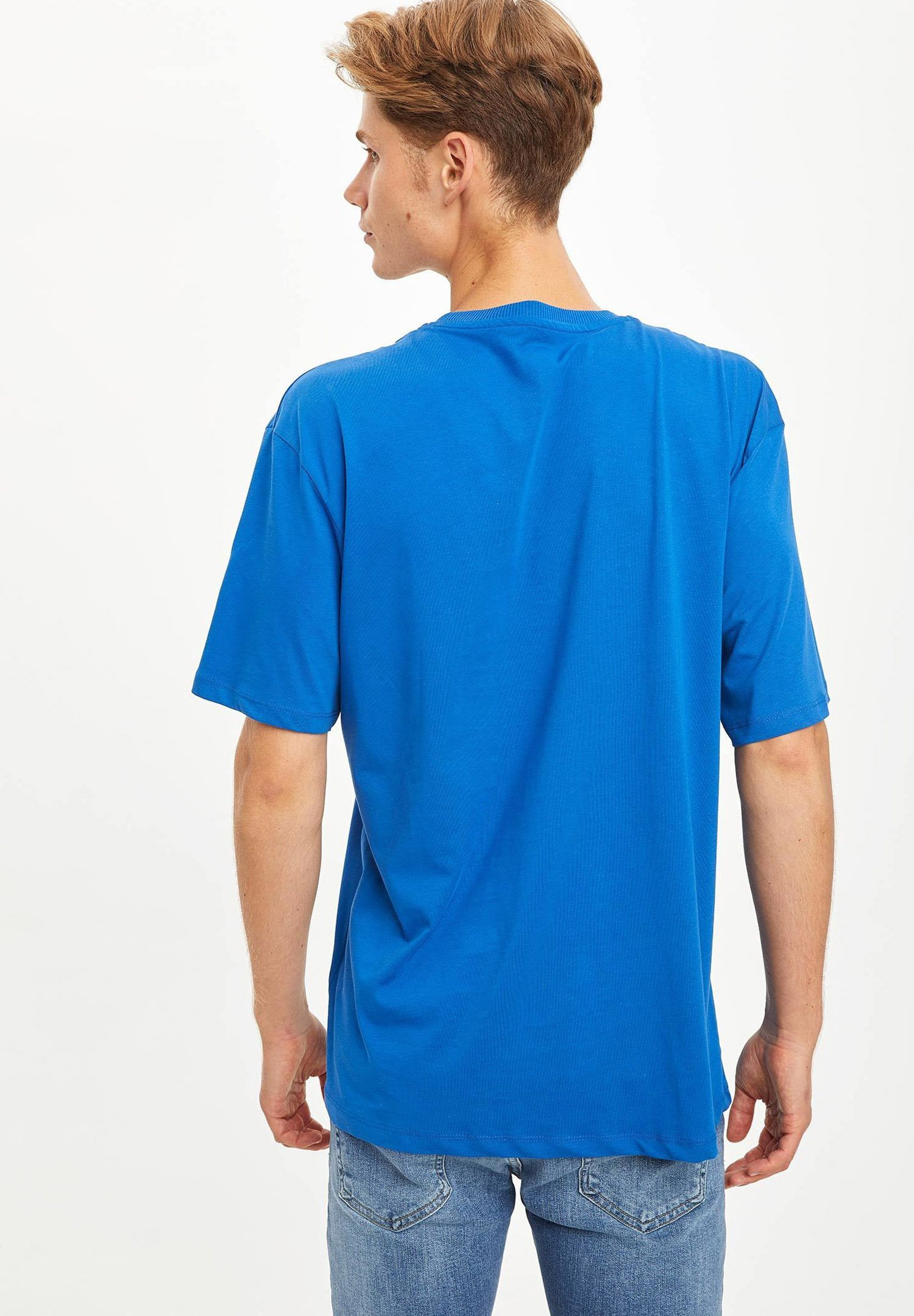 DeFacto Print T-shirt - blue NO5NS