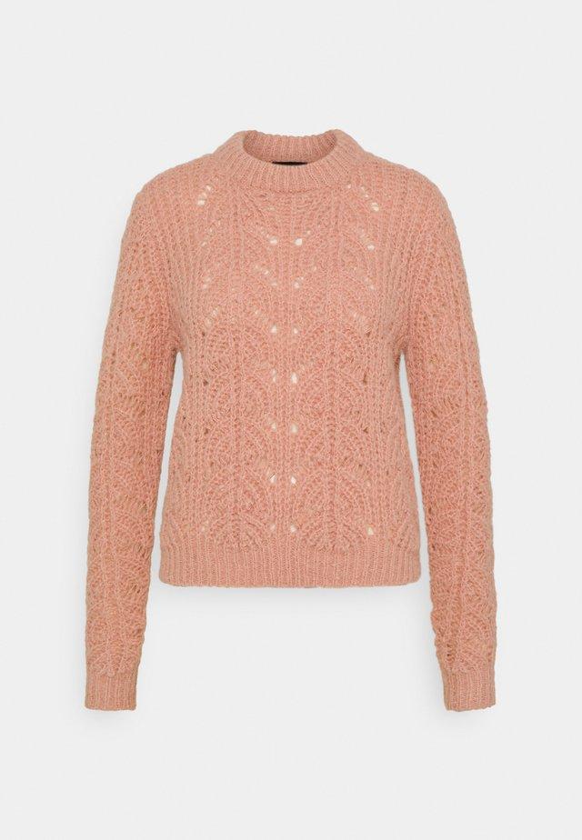 PCFIONAN O NECK  - Sweter - misty rose
