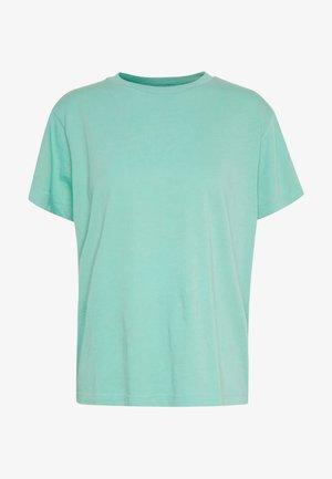T-SHIRT, SHORT SLEEVE, ROUND NECK, LOGO PRINT AT BACK NECK - Basic T-shirt - misty spearmint