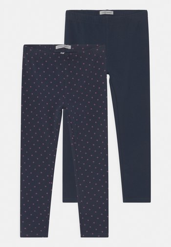 SMALL GIRLS 2 PACK - Legíny - navy blazer