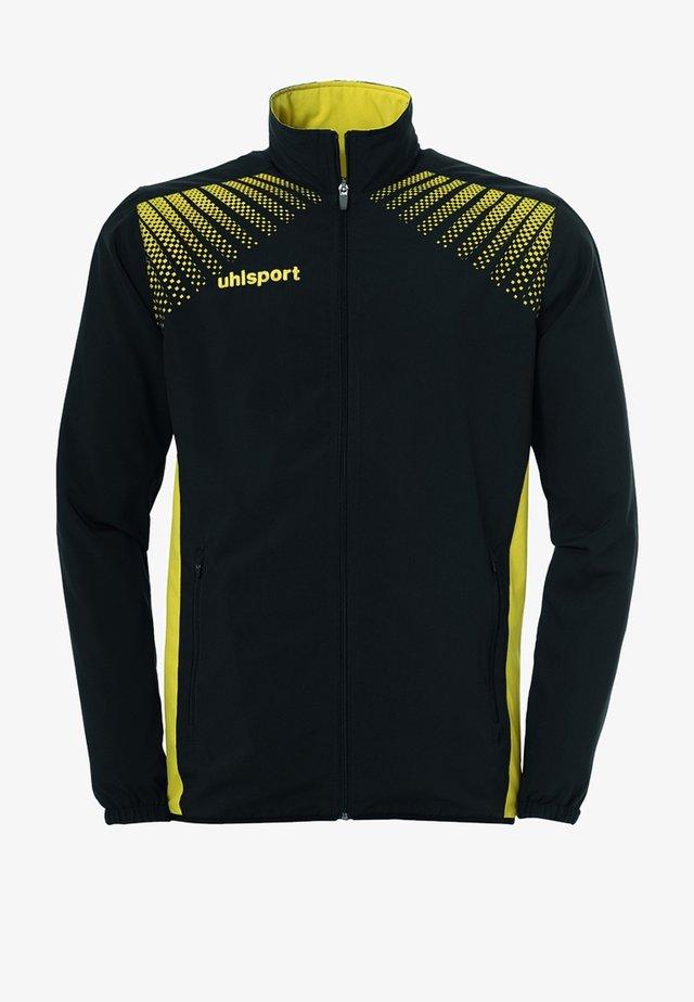 Training jacket - schwarz / gelb