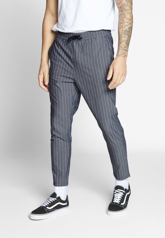 ONSLINUS CROP STRIPE  - Trousers - dark blue