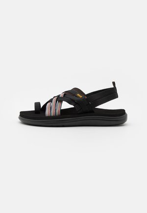 VOYA STRAPPY - T-bar sandals - antiguous black/multicolor