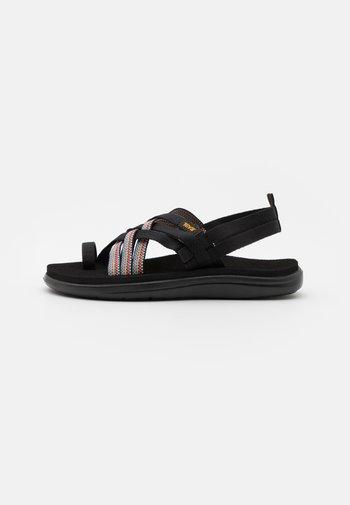 VOYA STRAPPY - Sandalias de dedo - antiguous black/multicolor