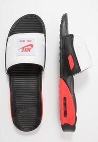 Nike Sportswear - AIR MAX 90 SLIDE - Mules - black/white/chile red - 1