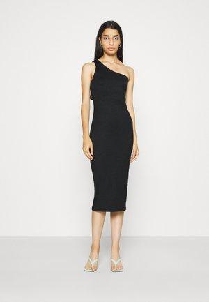 JOLINE ONE SHOULDER DRESS - Jersey dress - black