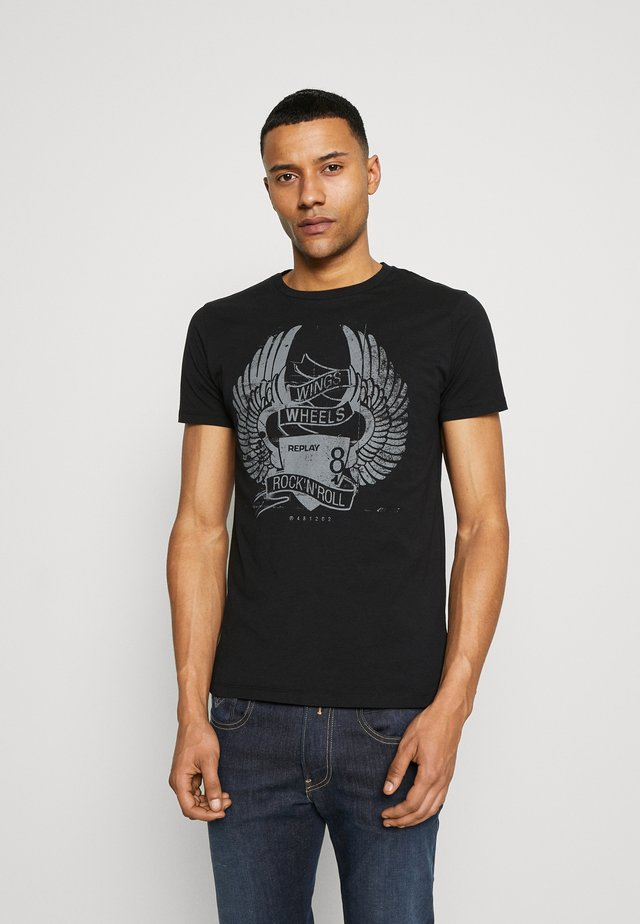 TEE - T-shirt con stampa - black