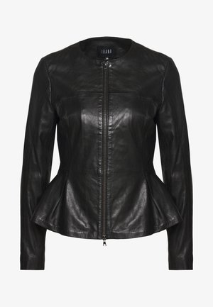 DOREEN - Leather jacket - black
