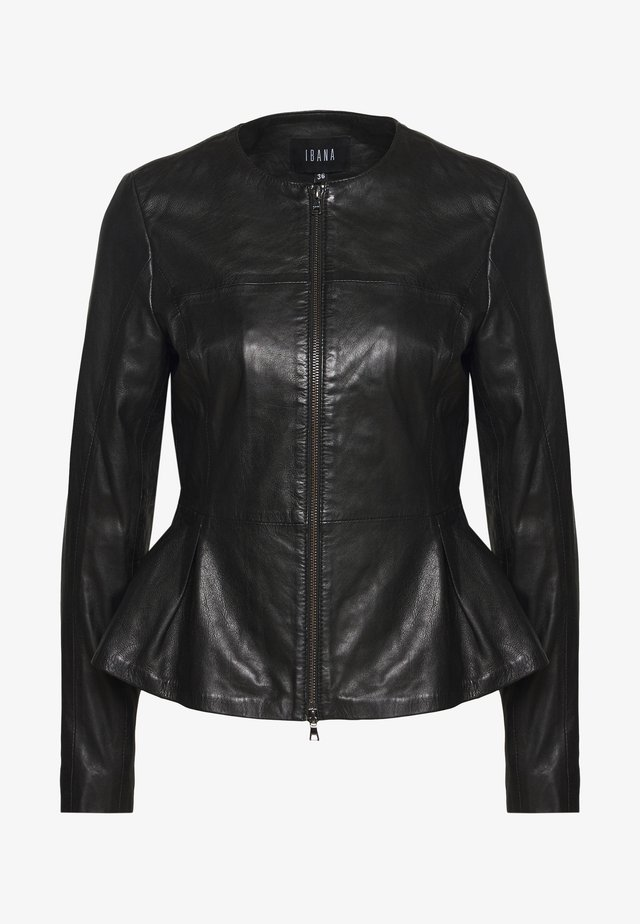 DOREEN - Leren jas - black