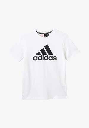 ESSENTIALS SPORTS SHORT SLEEVE TEE - Printtipaita - white/black