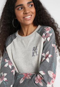 Roxy - Sweatshirt - charcoal heather flower field - 5
