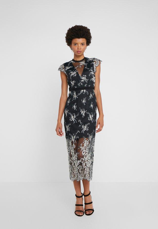 LYLA DRESS - Cocktail dress / Party dress - black/off white