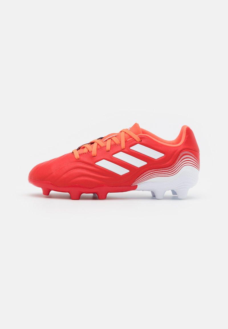 adidas Performance - COPA SENSE.3 FG UNISEX - Kopačky lisovky - red/footwear white/solar red