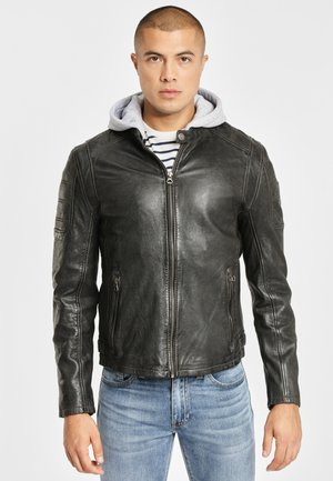 RYLO LAKEV - Leather jacket - antracite