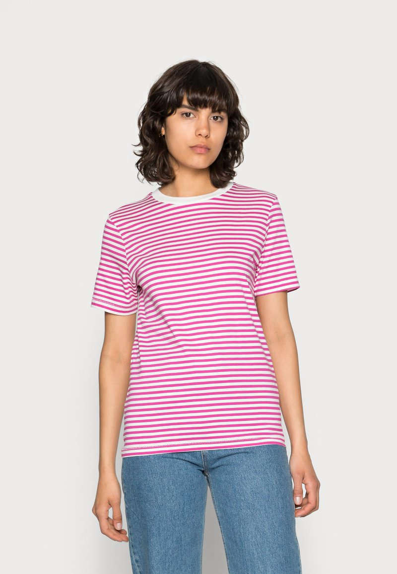 Selected Femme - SLFMY PERFECT SS TEE BOX CUT STR COLOR B - Print T-shirt - rose violet