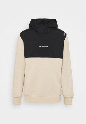 STOWAWAY HOOD - Sweatshirt - celsian beige/black