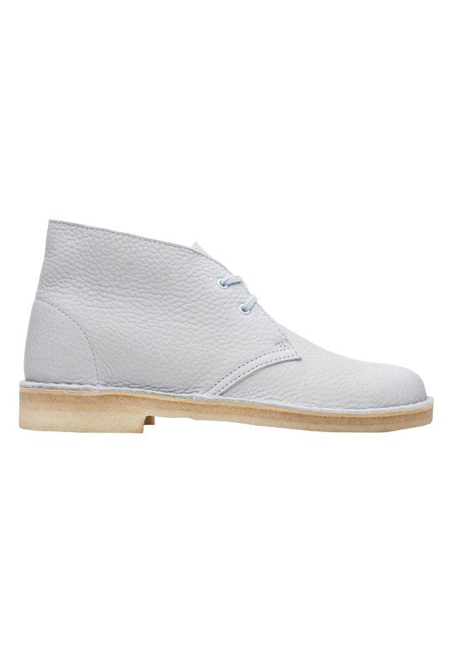 Lace-up ankle boots - light blue lea