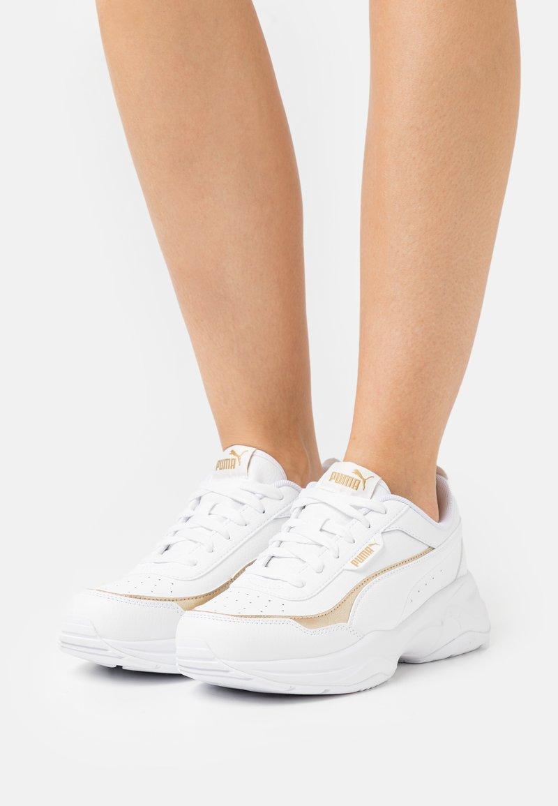 Puma - CILIA MODE LUX - Sneakers laag - white/team gold