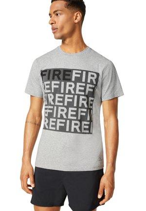 T-shirt z nadrukiem - hellgrau
