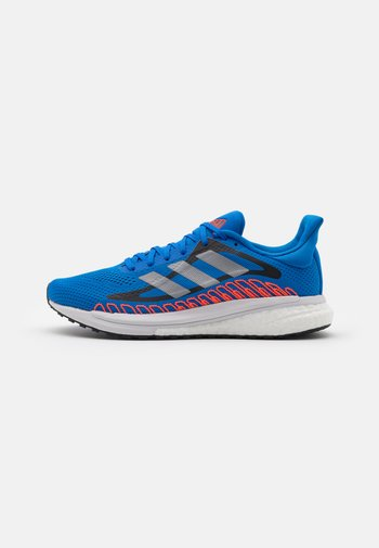 SOLAR GLIDE ST 3 - Neutral running shoes - football blue/silver metallic/solar red