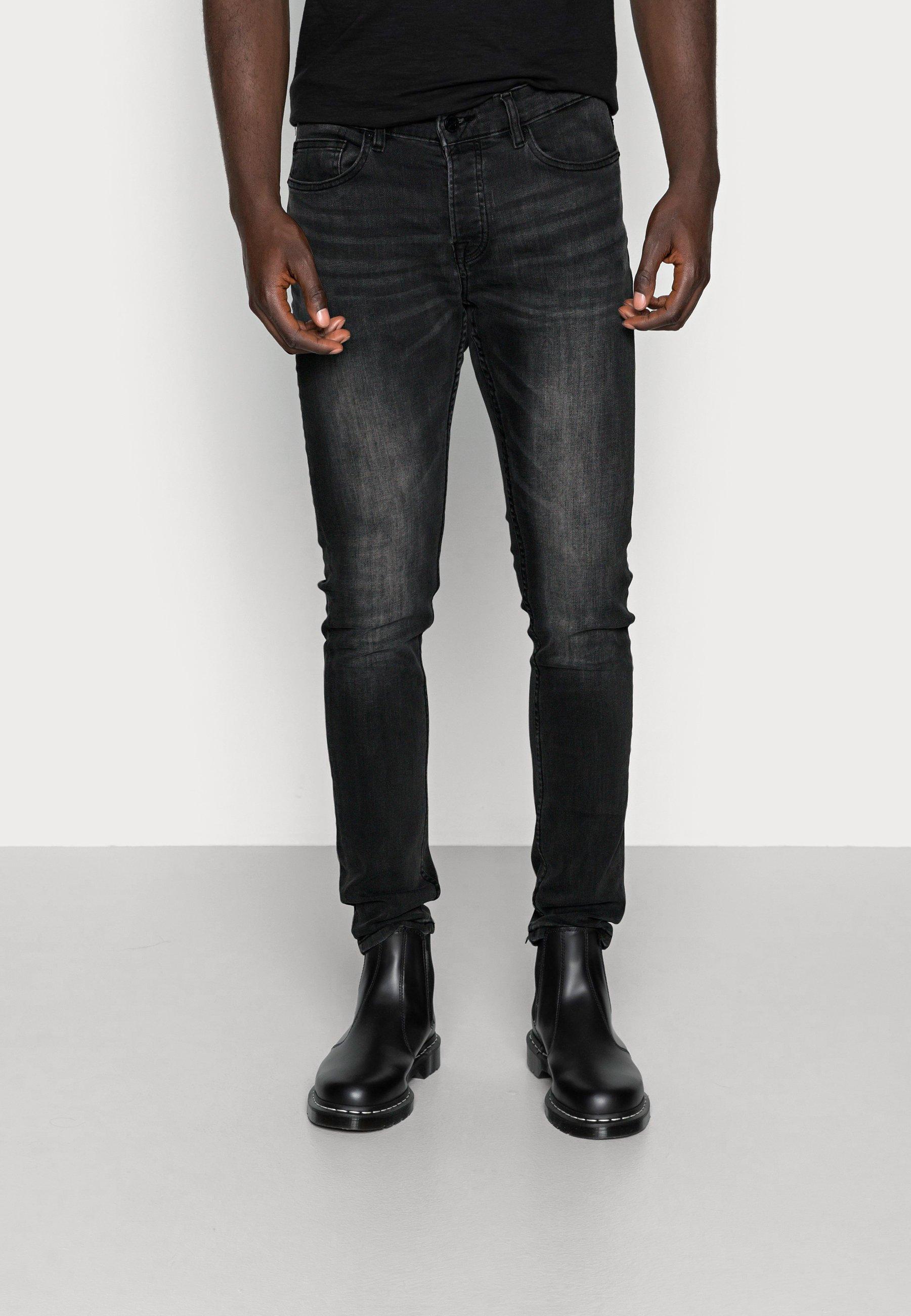 Men ONSLOOM BLACK WASHED - Jeans Tapered Fit