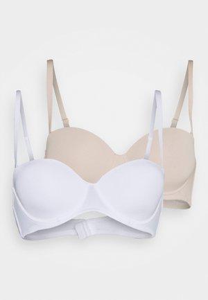 2 PACK - T-shirt bra - white/nude