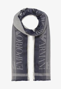 Emporio Armani - STOLE LIGHTWEIGHT FADED LOGO - Szal - navy blue - 0