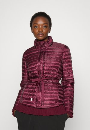 ECO DOT PACKABLE - Down jacket - dark ruby