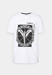 Carlo Colucci - BIG LOGO - Print T-shirt - weiss - 0