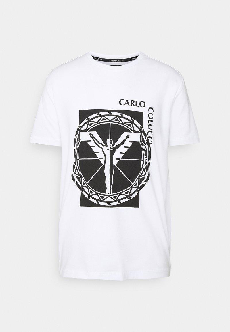 Carlo Colucci - BIG LOGO - Print T-shirt - weiss