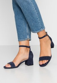 Anna Field - LEATHER  - Sandali - dark blue - 0