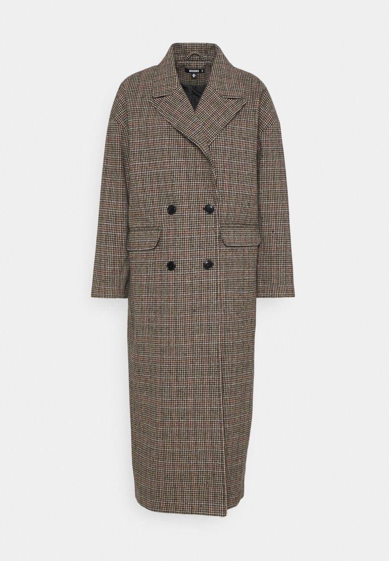 Missguided - HERITAGE CHECK - Klasický kabát - brown