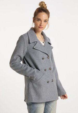 Cappotto corto - hellgrau melange