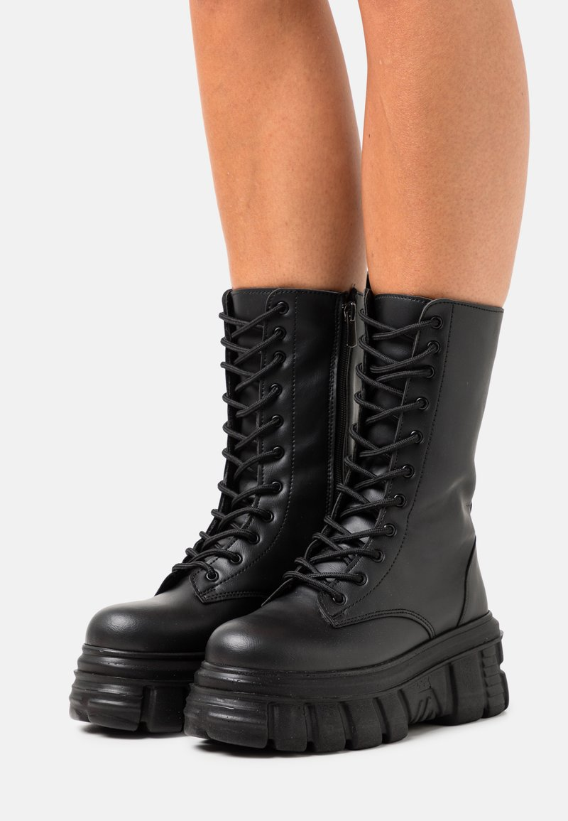 Nly by Nelly - MASSIVE BOOT - Plateaulaarzen - black